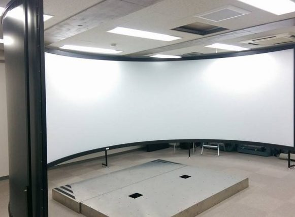 CURVED PROJECTION SCREEN FOR SIMULATOR BY MOCOM